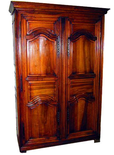 An 18th Century French Louis XIV Walnut Armoire No. 1035