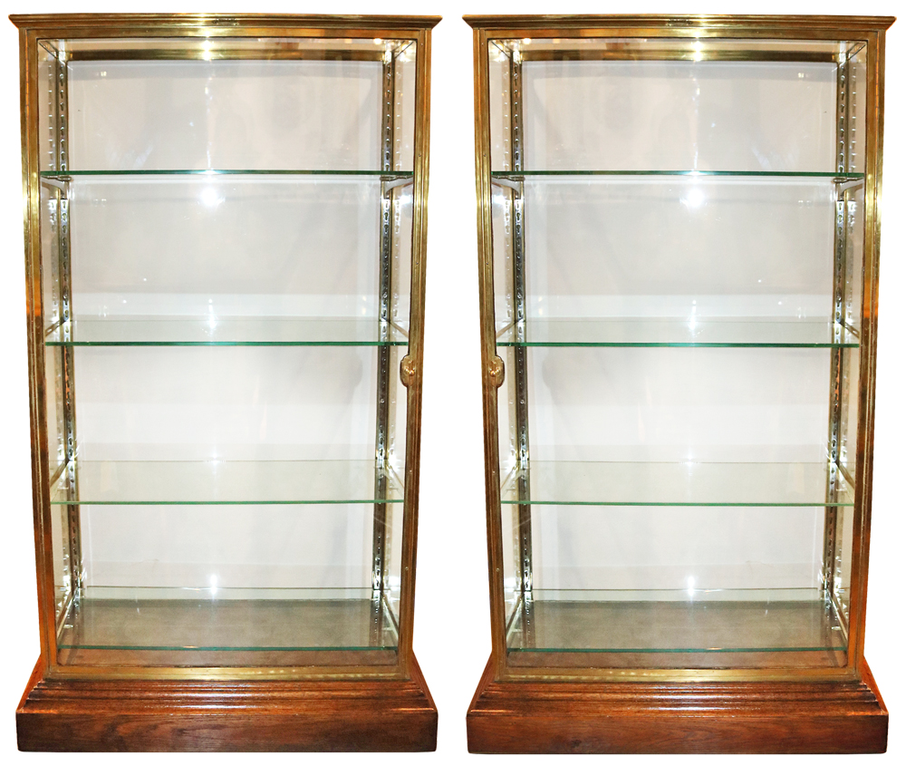 A Pair of 19th Century French Glass Vitrines No. 4379