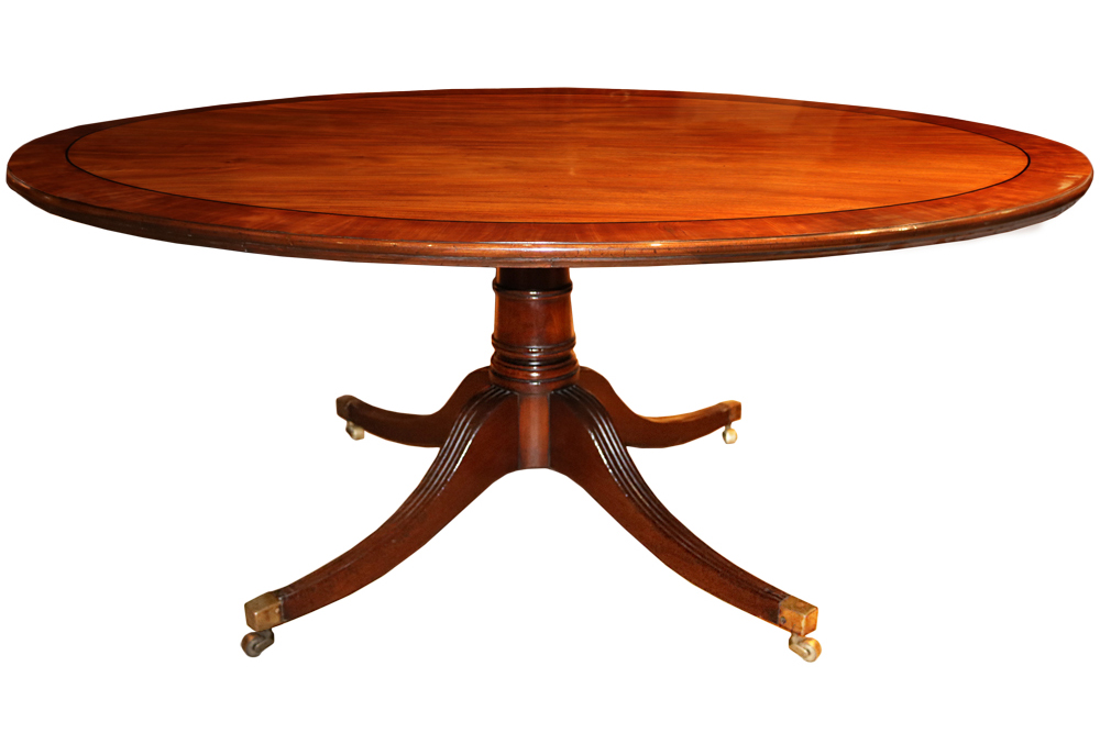 An 18th Century English Mahogany Tilt-Top Breakfast, Games and/or Side Table No. 4399