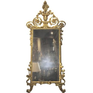 A Sophisticated 18th Century Italian Luccan Carved Giltwood Mirror No. 2471