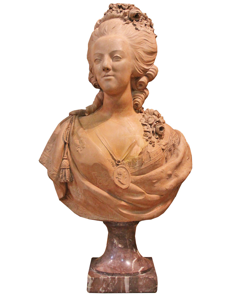 A 19th Century Italian Terracotta Bust of a Woman of Means No. 4414