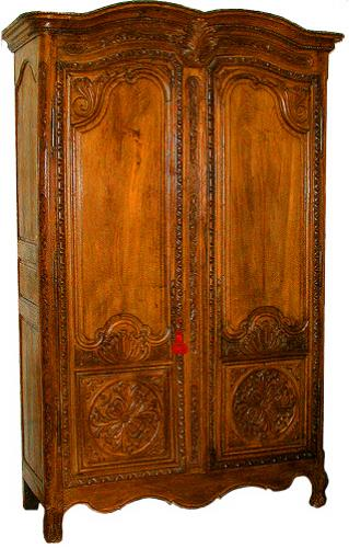 A Mid 18th Century French Louis XV Bleached Ash Armoire No. 314