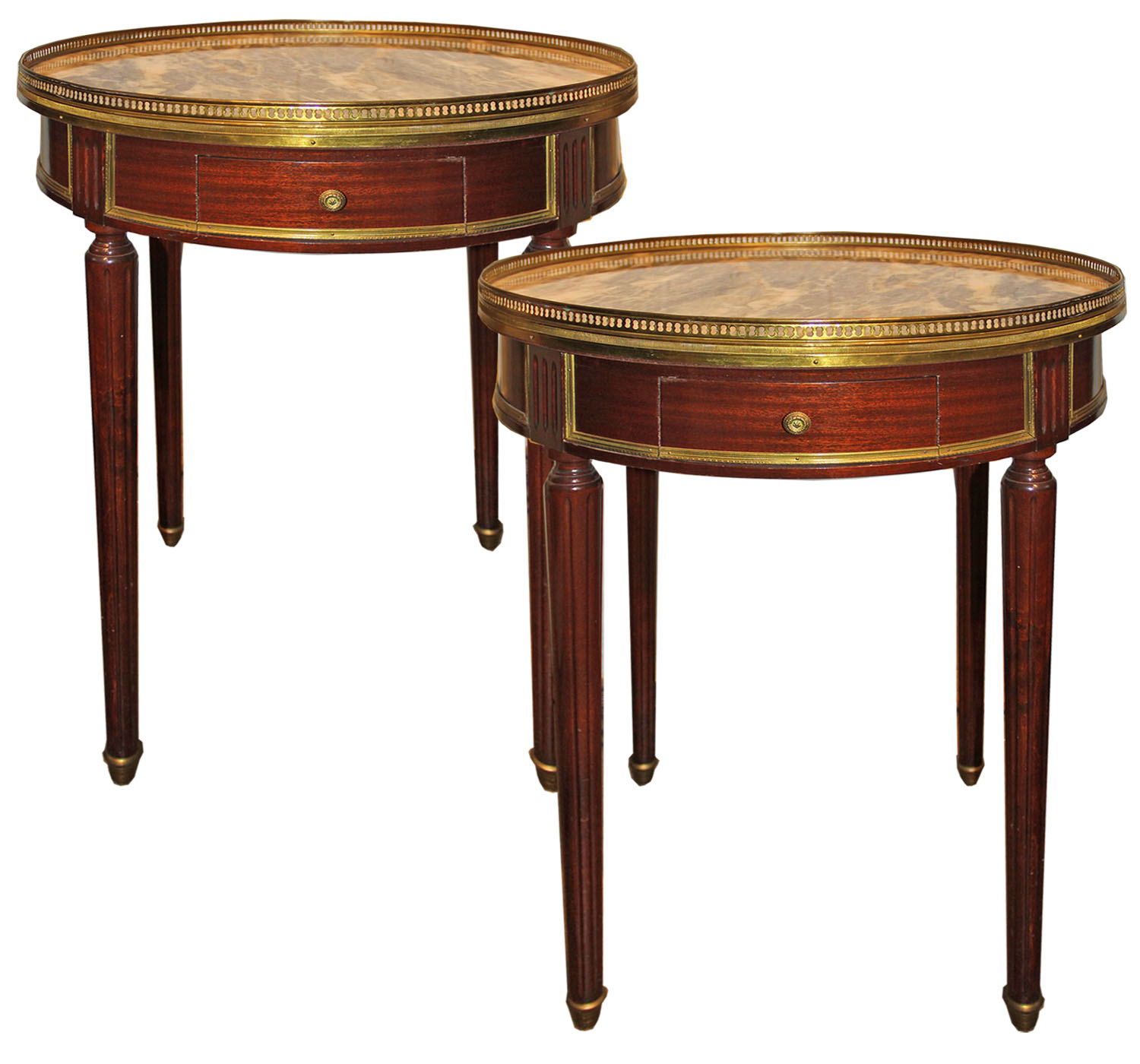 A Pair of 19th Century French Mahogany Bouillotte Tables No. 4477
