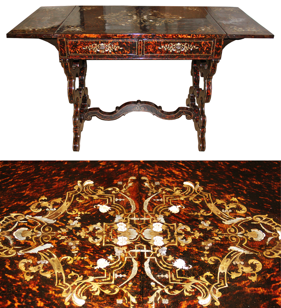 A 19th Century English Tortoiseshell Sofa Table No. 4497
