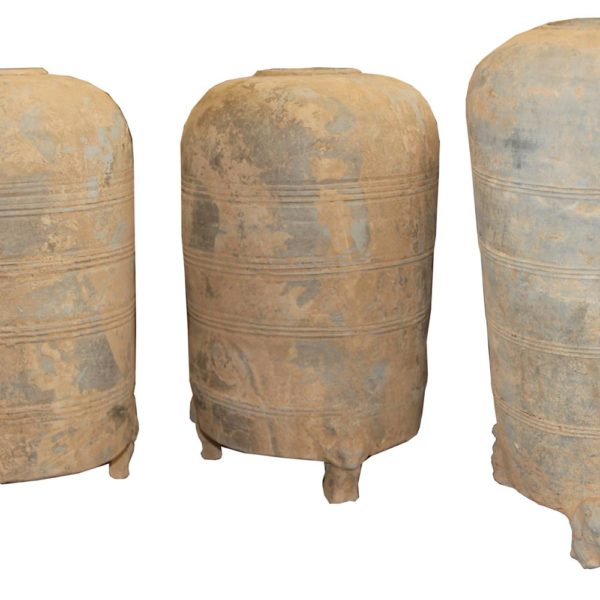 A Collection of Three Chinese Han Dynasty Earthenware Jars No. 4500