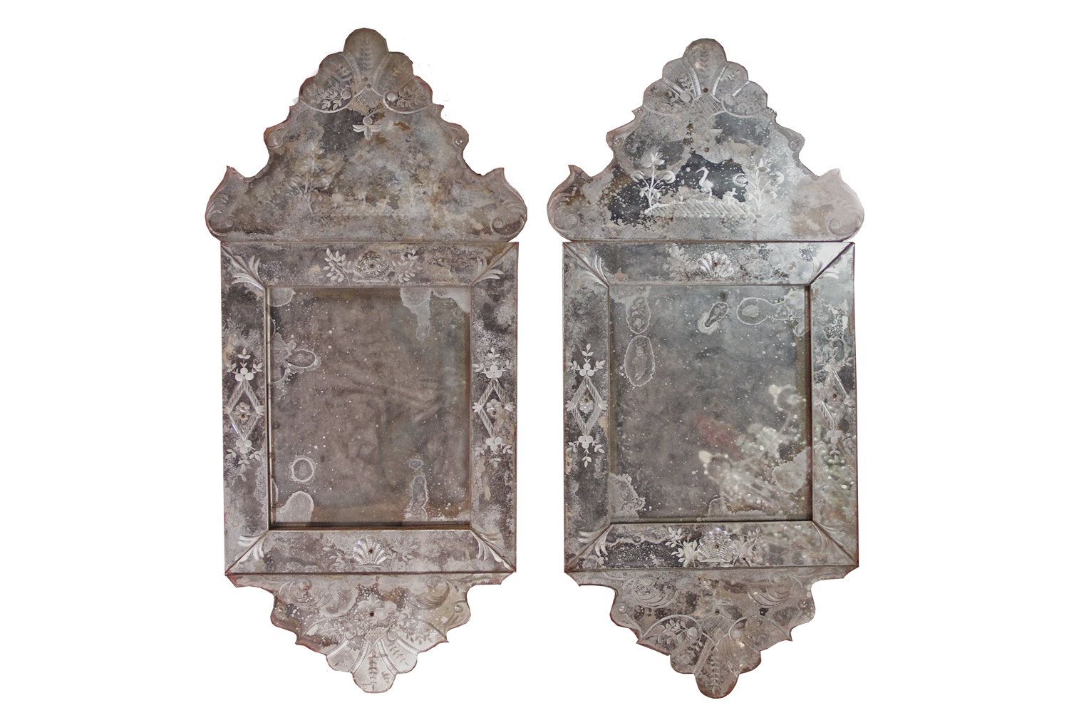 A Pair of 18th Century Venetian Mirrors No. 4512