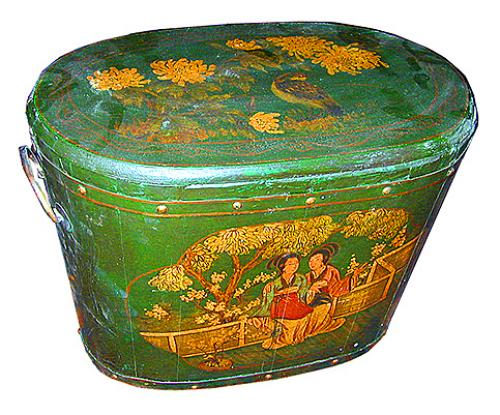 A 19th Century English Green Chinoiserie Cooling Box No. 179