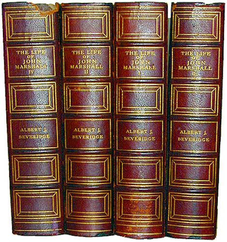 A 1919 Set of Four Volumes of The Life of John Marshall (b.1755-d.1835) No. 2175