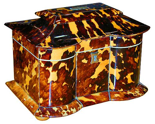 An English 19th Century Tortoiseshell Tea Caddy No. 1911