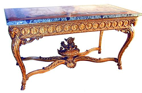 An 18th Century Italian Neoclassic Giltwood Console Table 1514