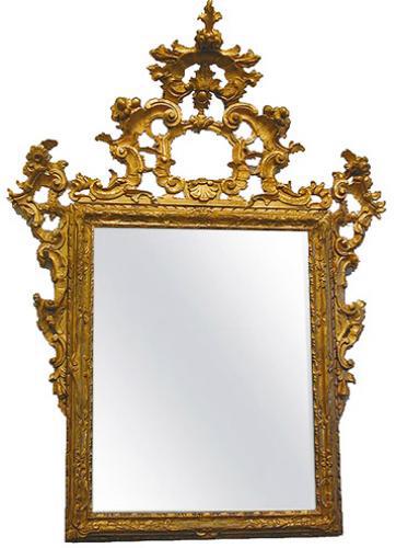 A Grand 18th c. Italian Rococo Gilt Wood Mirror No.2223