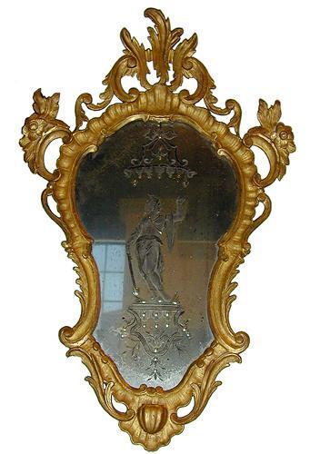 An 18th Century Venetian Giltwood Mirror No. 1921