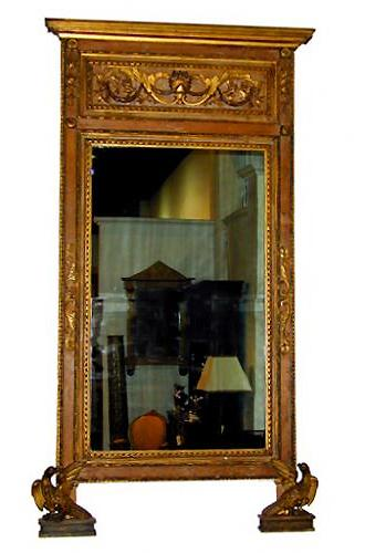 A Fine 18th Century Italian Louis XVI Parcel-Gilt Pier Mirror No. 1624