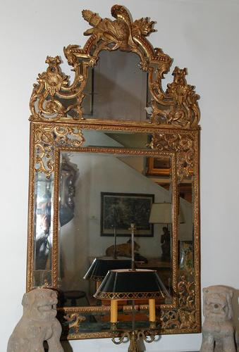 An Exquisite 18th Century French Régence Giltwood Mirror No. 530