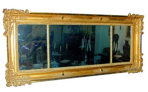 A 19th Century Continental Carved Giltwood Over-Door or Mantel Mirror No. 222
