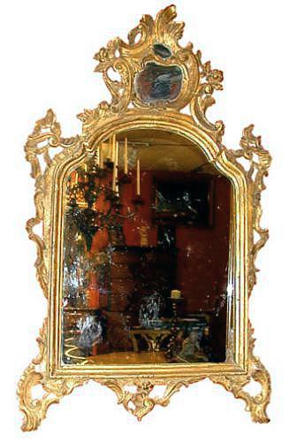 A 18th Century Italian Louis XV Finely Carved Giltwood Mirror No. 48