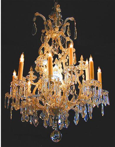 A 19th Century Italian Cut Crystal Chandelier No. 1691