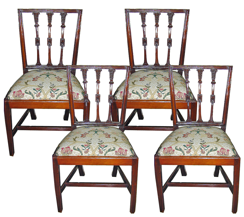 An Italian Set of Four 18th Century Neoclassical Side Chairs No. 862