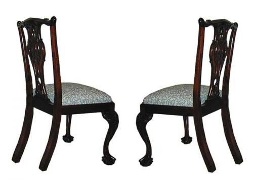 A Pair of English Mahogany Dining Chairs No. 1838