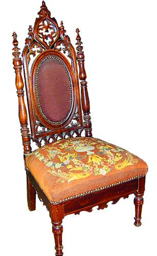 A 19th Century Anglo Indian Walnut and Caned Slipper Chair No. 861