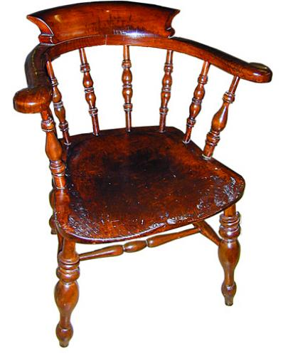 A Pair of 19th Century Similar English Windsor Captain's Chairs No. 663