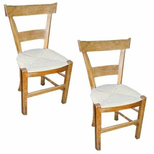 A 19th Century Pair of Small Fruit Wood Side Chairs No. 626