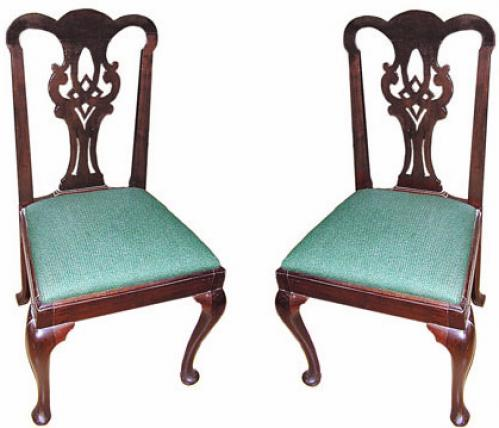 A Pair of 19th Century English Mahogany Side Chairs No. 472