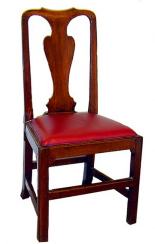 An 18th Century English Queen Anne Walnut Side Chair No. 449