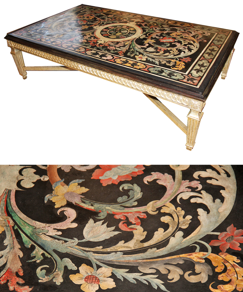 A Late 18th Century Italian Scagliola Coffee Table No. 4520
