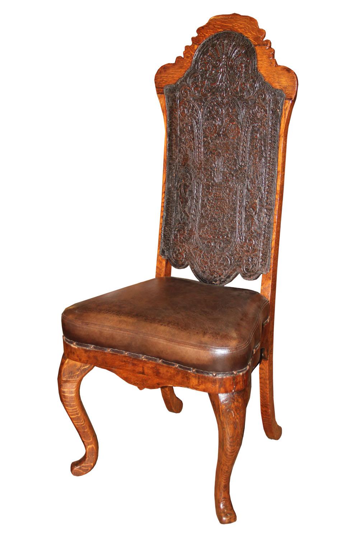 An 18th Century Portuguese Oak Chair No. 4528
