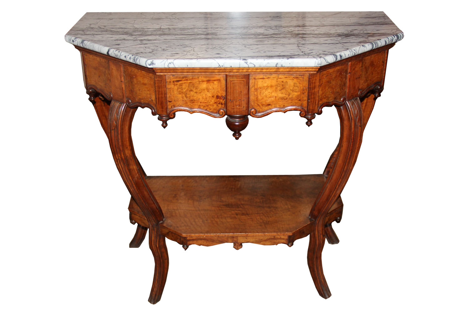An 18th Century Florentine Walnut Six-Sided Console Table No. 4532