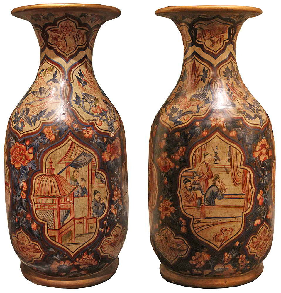 A Pair of Mid-19th Century English Terra Cotta Vases No. 4553