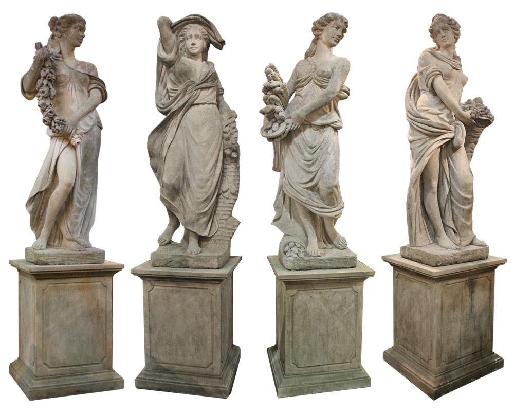 A Rare and Important Set of Monumental 18th Century Neoclassical Statues of The Four Seasons No. 4562