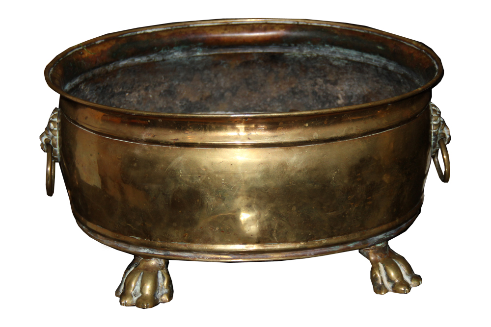 A Handsome 19th Century English Brass Jardinere No. 244