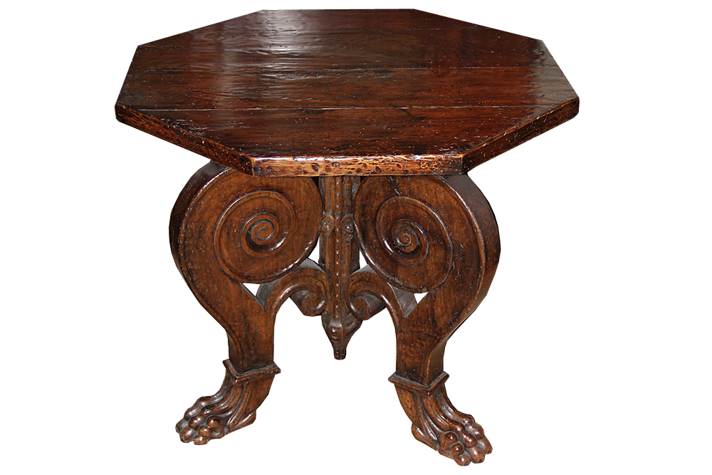 A 19th Century Tuscan Walnut Octagonal Center or Side Table No. 4582