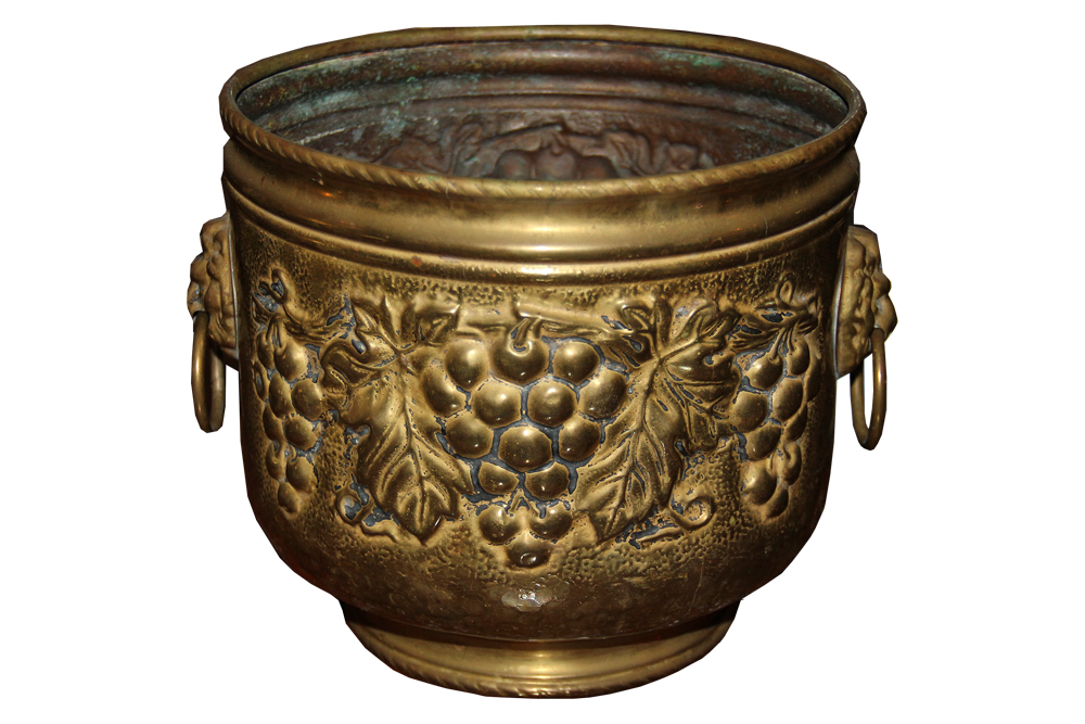 An English Brass Planter or Jardinère No. 74