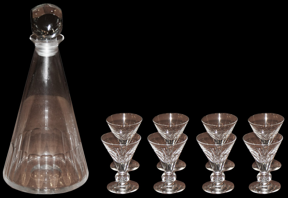 A 19th Century Cut Crystal Decanter No. 395