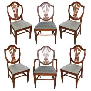A Set of Six Late 18th Century Mahogany English Chairs No. 4547