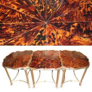 A Three-Part Tortoiseshell and Mecca Gilt Coffee Table No. 4599