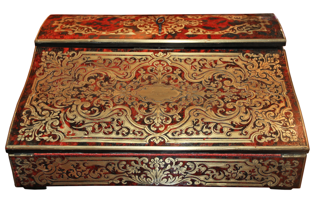 A 19th Century French Boullework Lap Desk No. 4620