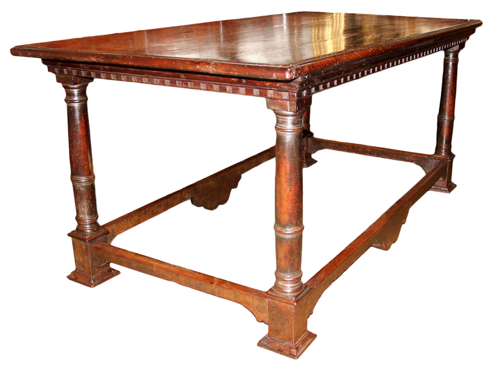 An Early 17th Century Florentine Walnut Library Table No. 4648