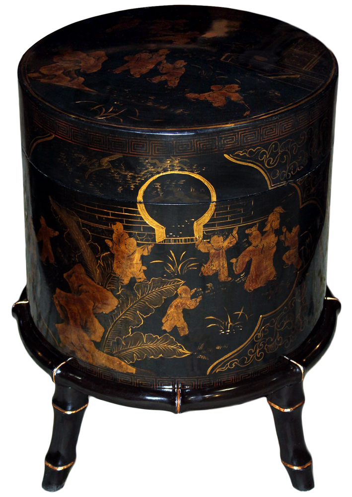 A 19th Century Chinese Black Lacquer Wedding Box No. 4661