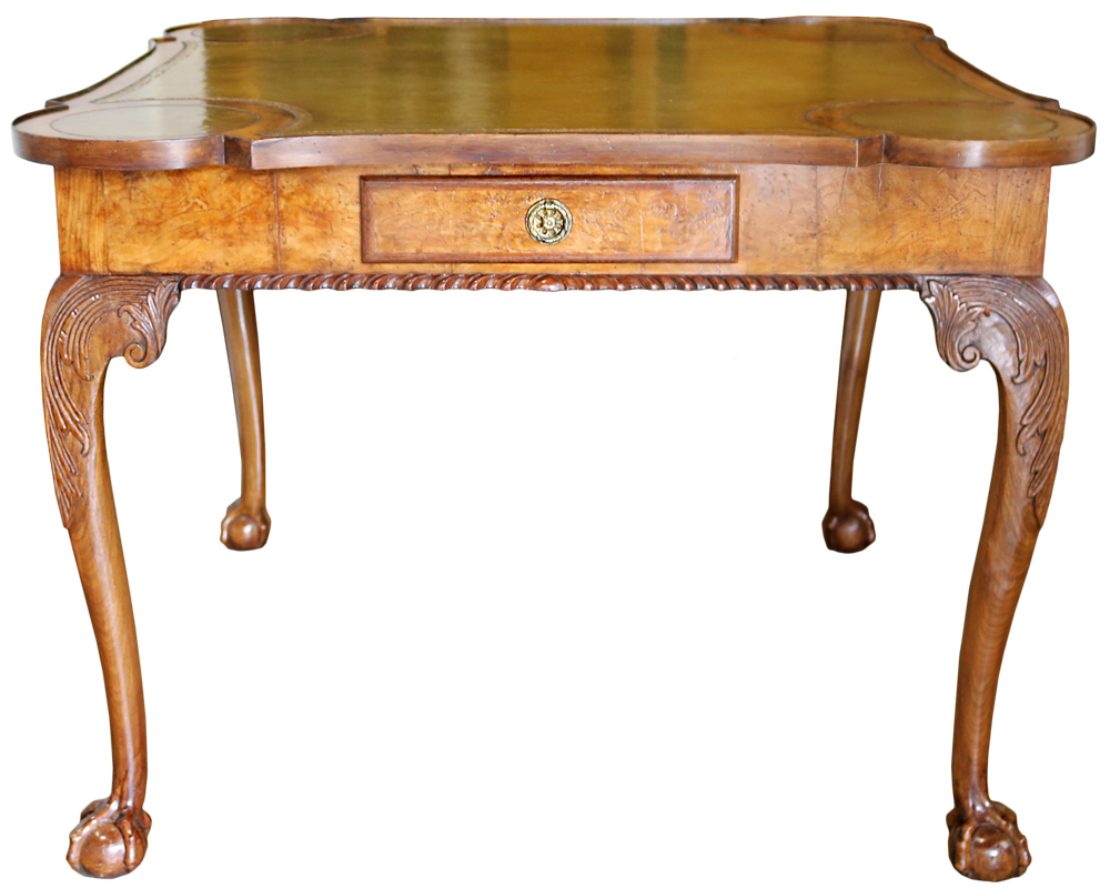 A 19th Century English Burl Walnut Games Table No. 4702