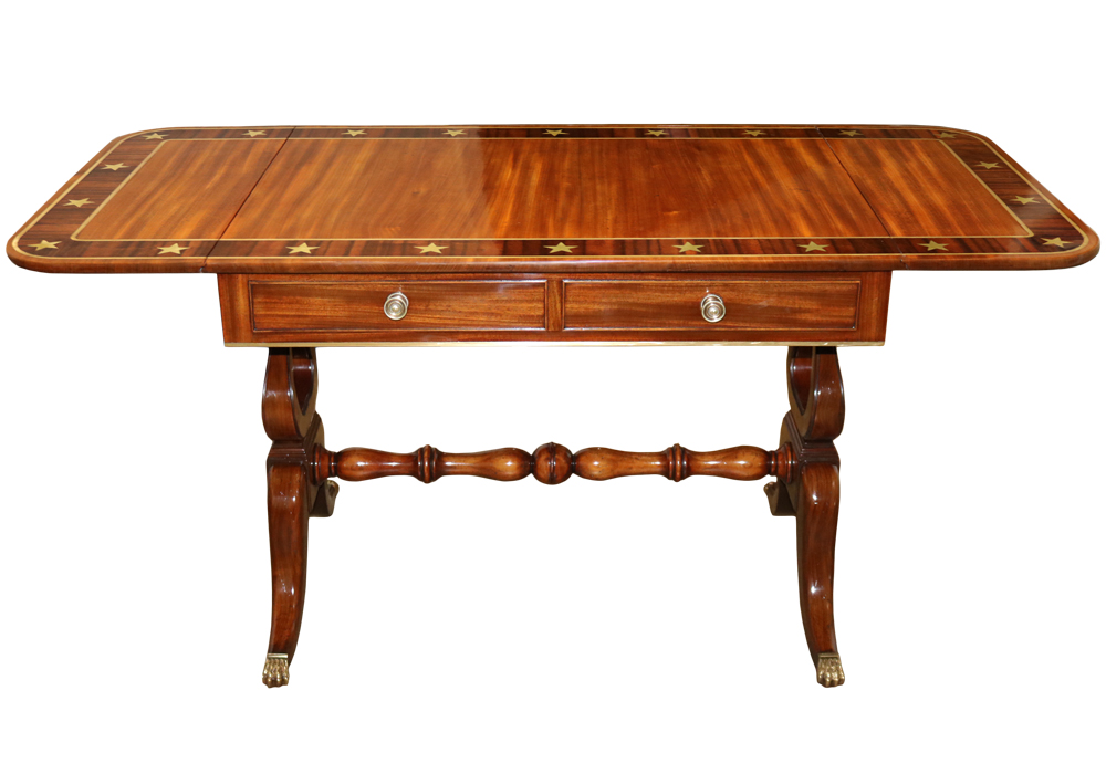 A 19th Century English Regency Mahogany Sofa Table No. 4705