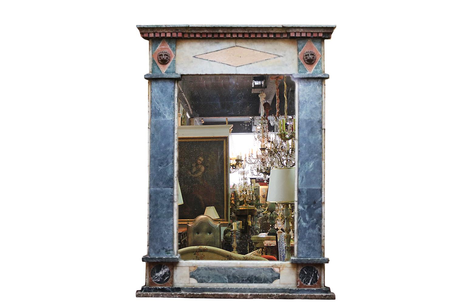 A Rare 18th Century Italian Specimen Marble Mirror No. 4720