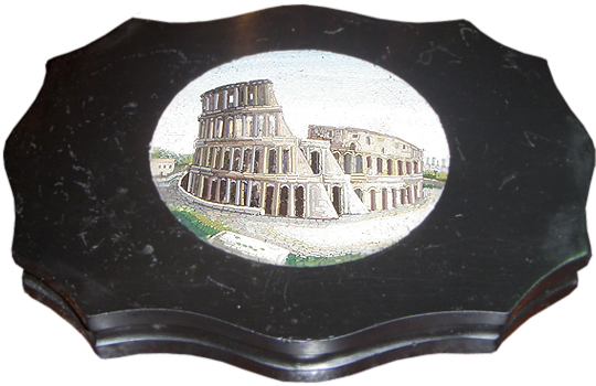 Micro-Mosaic Paper Weight Depicting the Colosseum No. 2799