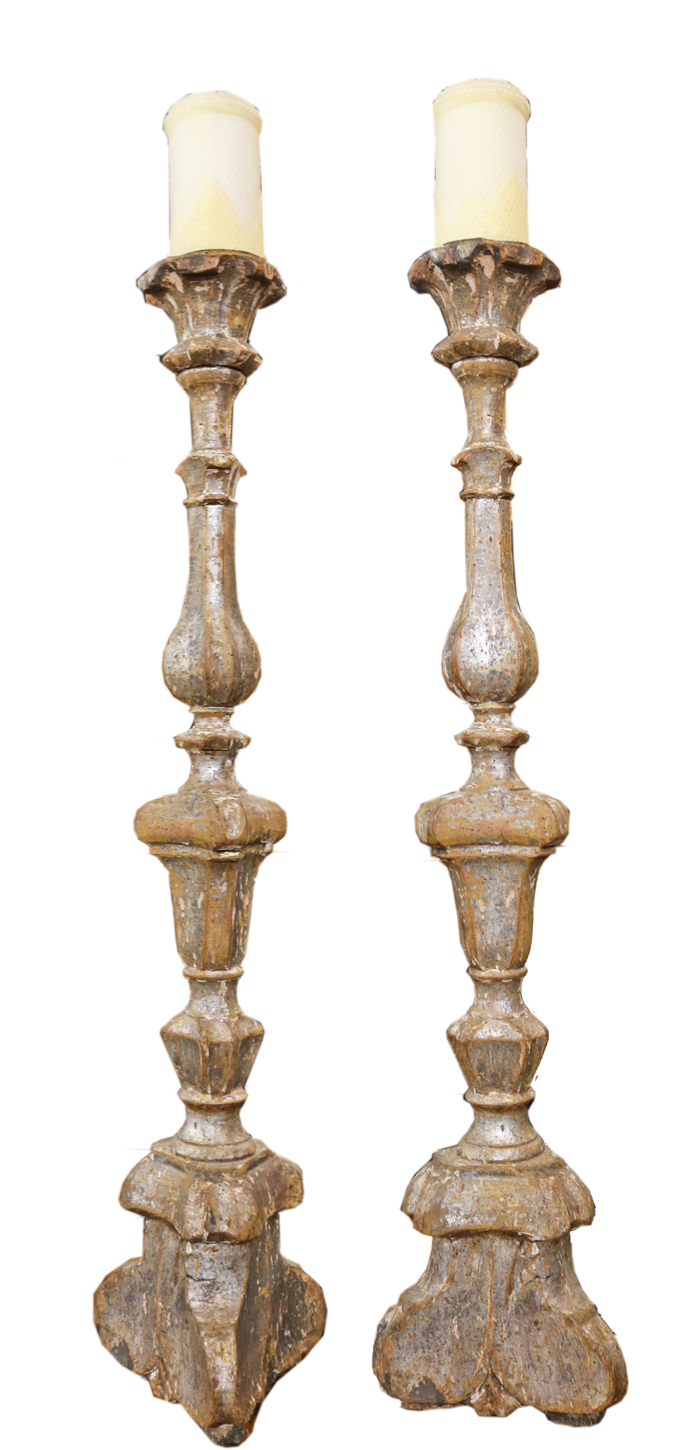 A Rare Pair of Grandly Scaled 16th Century Italian Pricket Sticks No. 4746