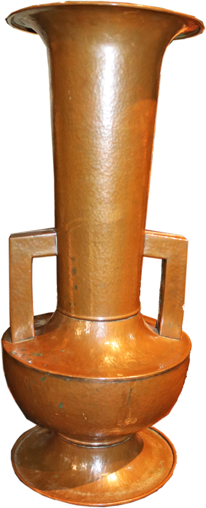 A 20th Century Hammered Copper Amphora No. 4748
