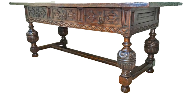A 17th Century Italian Walnut Refectory Table No. 4758