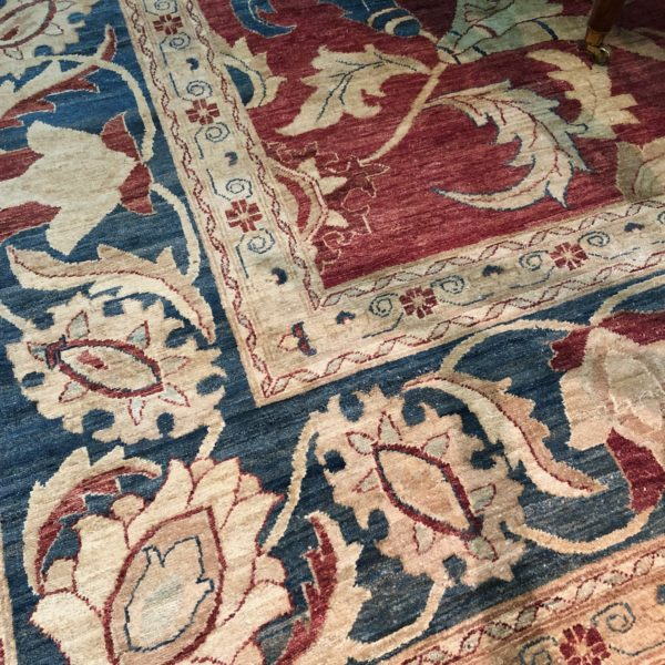 An Expansive Vibrant Pakistani Vegetable Dyed Wool Rug No. 4753